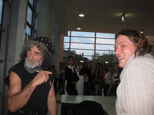Mauro Corona con Luca Ispani