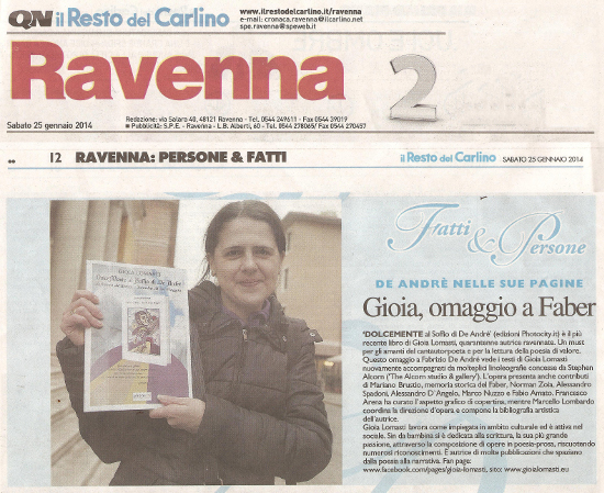Gioia Lomasti su Carlino Ravenna