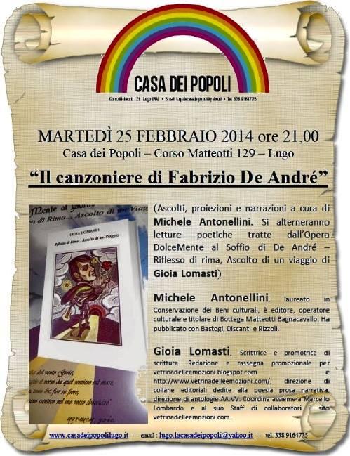 Locandina Il canzoniere di Fabrizio De André