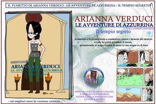 Locandina le avventure di Azzurrina di Arianna Verduci